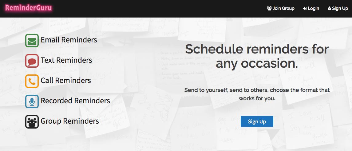 ReminderGuru | Free Reminder Service